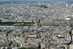The city skyline at daytime. Paris, France. Royalty Free Stock Images