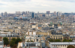 The city skyline at daytime. Paris, France. Panoramic view on roof of houses Royalty Free Stock Photography