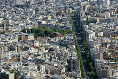 The city skyline at daytime. Paris, France. Royalty Free Stock Image