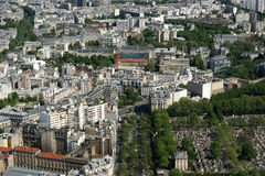 The city skyline at daytime. Paris, France. Taken from the tour Montparnasse Stock Photos