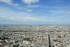 The city skyline at daytime. Paris, France. Taken from the tour Montparnasse Royalty Free Stock Photo