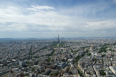 The city skyline at daytime. Paris, France. Taken from the tour Montparnasse Royalty Free Stock Image