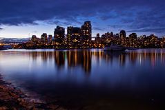 City Skyline at Dusk Royalty Free Stock Image
