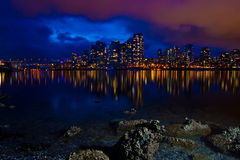 City Skyline at Dusk Royalty Free Stock Images