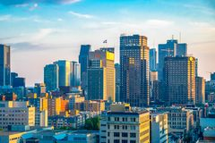 Montreal city, Quebec, Canada: urban skyline 1q royalty free stock photography