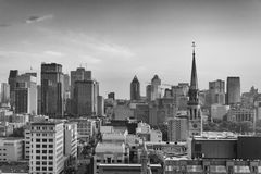 City skyline of famous Canadian tourist destination, Montreal, C Royalty Free Stock Photos