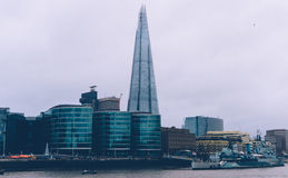 City Skyline Featuring The Shard on River Thames Royalty Free Stock Images