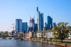 City skyline in Frankfurt, Germany Royalty Free Stock Photo