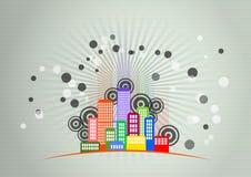 City skyline graphic Stock Photos