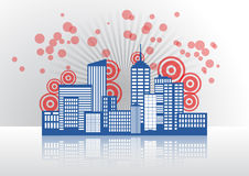 City skyline graphic Stock Photography