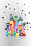 City skyline graphic Royalty Free Stock Photography