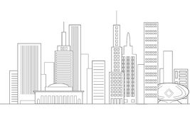 City Skyline In Gray Royalty Free Stock Photography