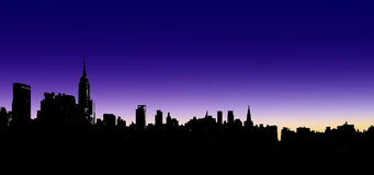 City Skyline Illustration Stock Images