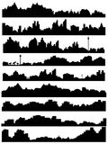 City skyline illustration Royalty Free Stock Images