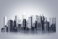 City Skyline Illustration Royalty Free Stock Images