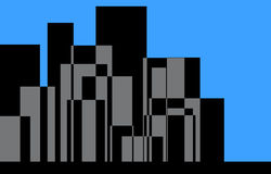 City skyline illustration Stock Photo