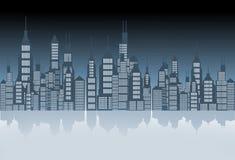 City Skyline Illustration Royalty Free Stock Photos