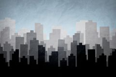 City skyline illustration.Silhouette of Downtown and Urban landscape