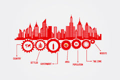 City Skyline Infographics Royalty Free Stock Image