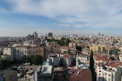 City Skyline of Istanbul at Beyoglu and Galata District Royalty Free Stock Photography
