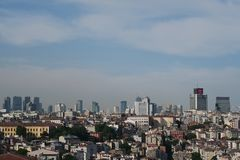 City Skyline of Istanbul at Beyoglu and Galata District Royalty Free Stock Images