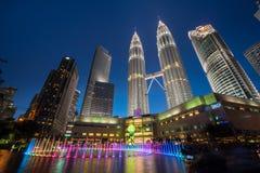 City skyline of Kuala Lumpur, Malaysia. Royalty Free Stock Photos