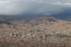 City skyline of La Paz, Bolivia Royalty Free Stock Photo