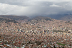City skyline of La Paz, Bolivia Royalty Free Stock Images