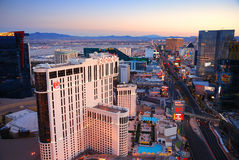 City Skyline, Las Vegas, Nevada. Royalty Free Stock Photography
