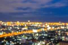 City skyline lights night view Royalty Free Stock Photo