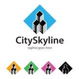 City Skyline Logo Template Design Vector Royalty Free Stock Image
