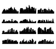 City skyline. And the metropolis Royalty Free Stock Photography