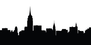 City skyline New York vector royalty free stock photography