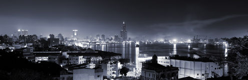 City skyline in night Stock Images