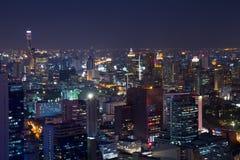 City skyline at night Stock Photos