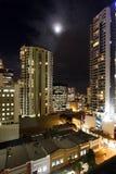 City skyline night. Tall buildings and city skyline at night.  Brisbane, Australia Stock Image