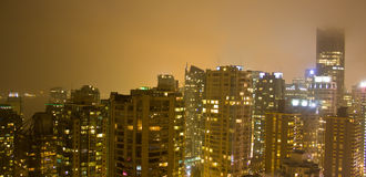 City skyline at night Stock Photo