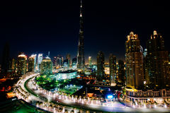 City Skyline at Night Royalty Free Stock Images
