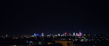 City skyline at night Royalty Free Stock Photography