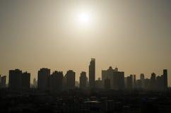 City skyline at night. Bangkok city skyline at morning, Thailand Stock Photo
