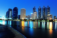 City skyline at night. Bangkok Thailand. Stock Photo