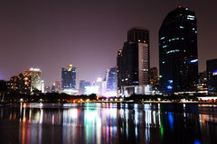 City skyline at night. Bangkok Thailand. Royalty Free Stock Photography
