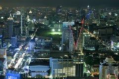 City skyline at night Bangkok Thailand. Royalty Free Stock Photography