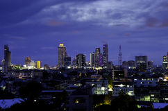 City skyline at night. Bangkok. Thailand. Stock Images