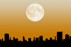 City Skyline at Night. Generic silhouette of a city skyline at night Royalty Free Stock Photography