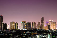 City skyline at night Royalty Free Stock Photography