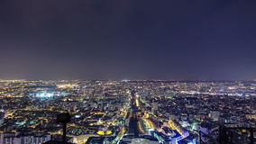 The city skyline at night. Paris, France. Taken stock footage