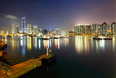 City skyline at night Stock Photography