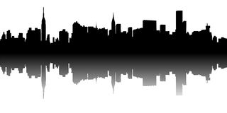 CITY SKYLINE NY VECTOR Royalty Free Stock Photography