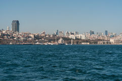 City Skyline Over The Sea Royalty Free Stock Photo